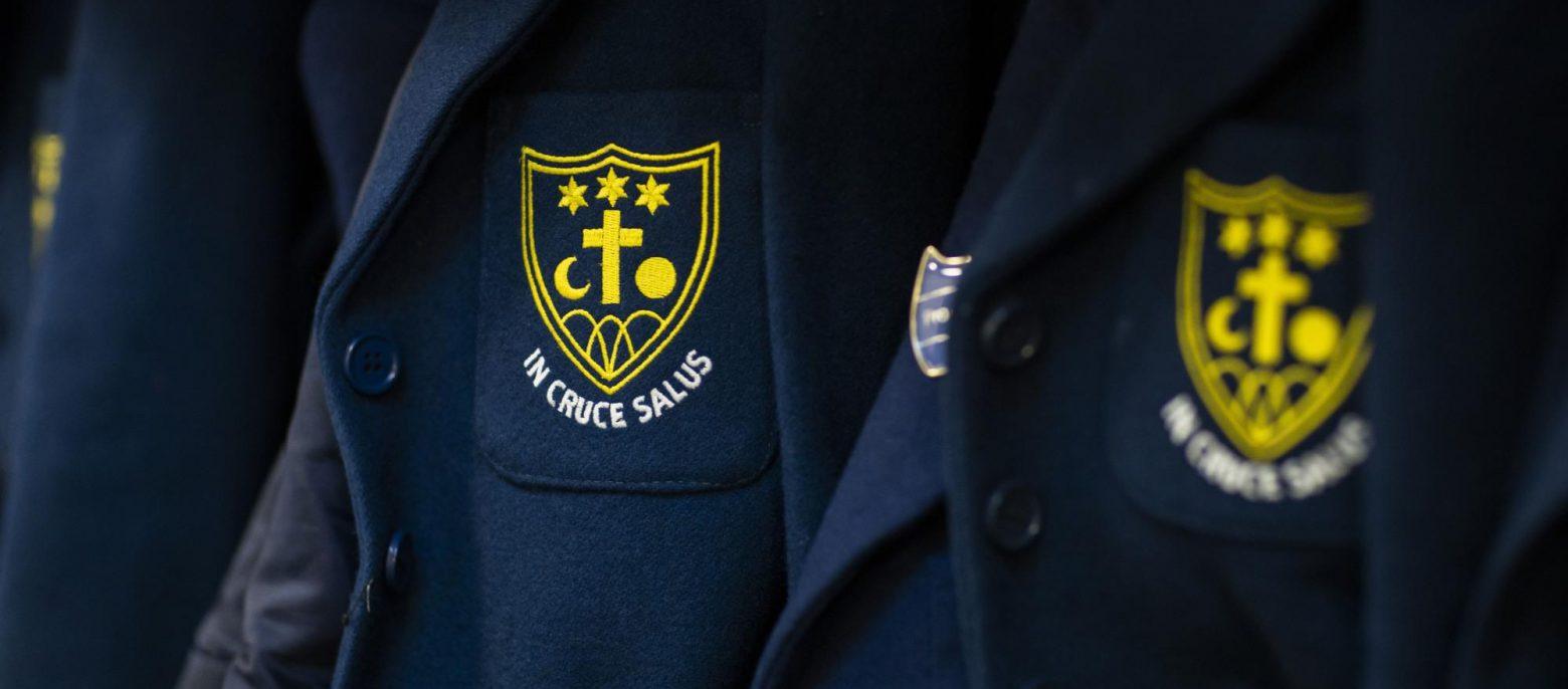 close up of school blazers