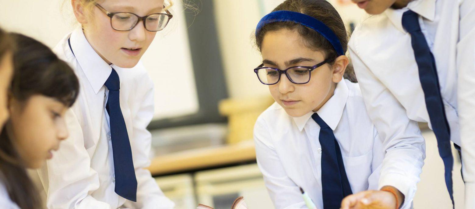 school girls wearing ties